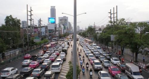 Verkehrschaos in Bangkok Phuket