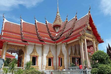 wat chalong tempel phuket thailand