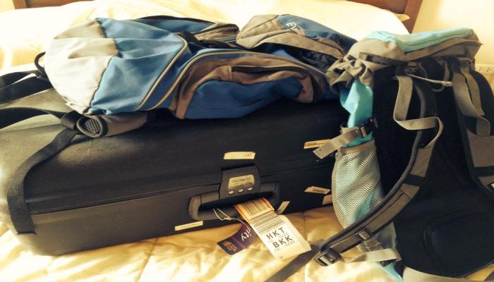koffer oder rucksack thailand urlaub