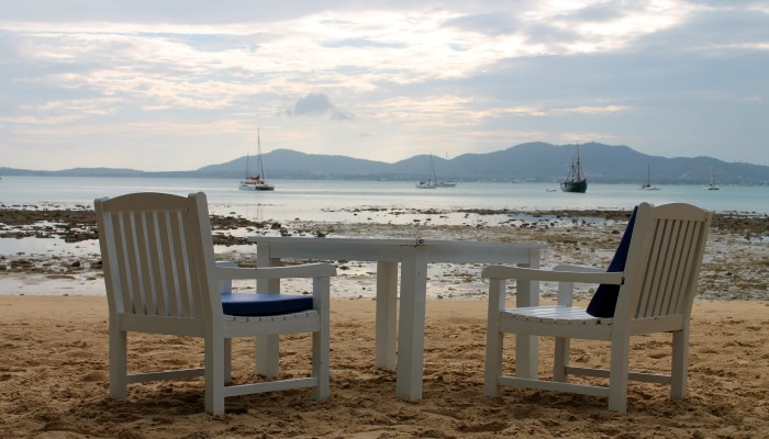 panw beach sonnenuntergang phuket