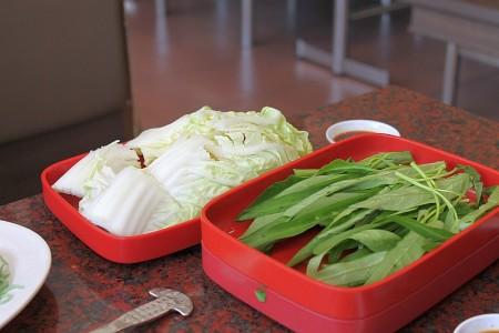 Gemüse bei MK Suki Pak Bung