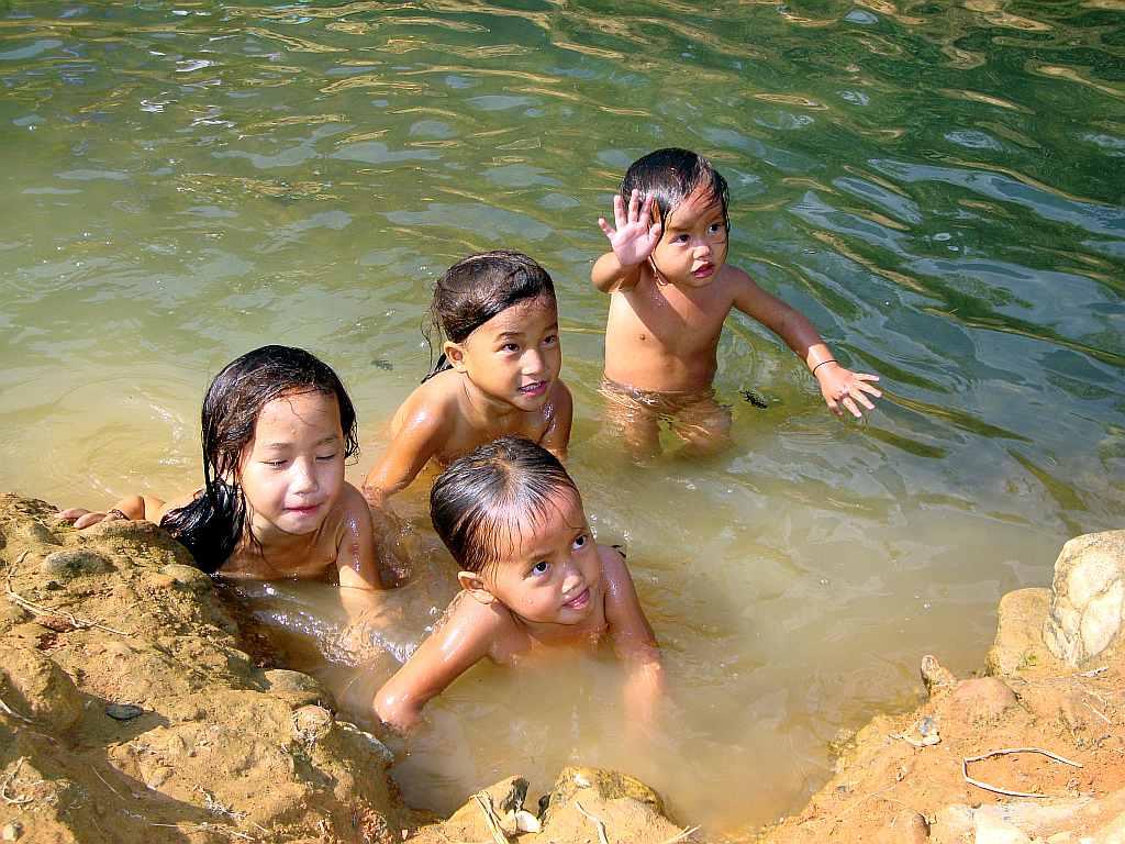 mit kindern in thailand