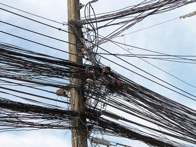 stromleitungen in thailand