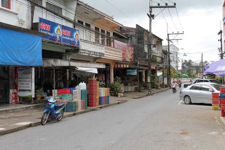 thailändische provinz ruhige stadt