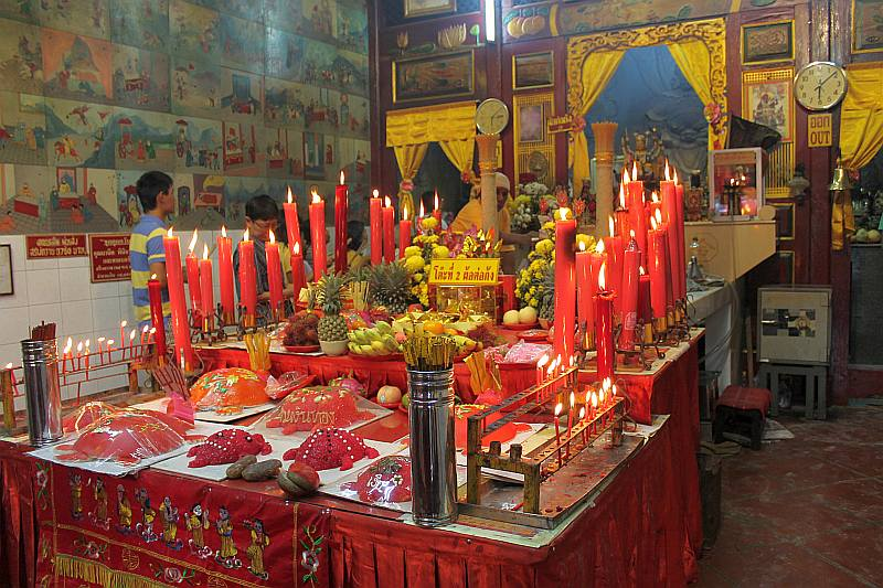 chinesischer tempel por tor phuket