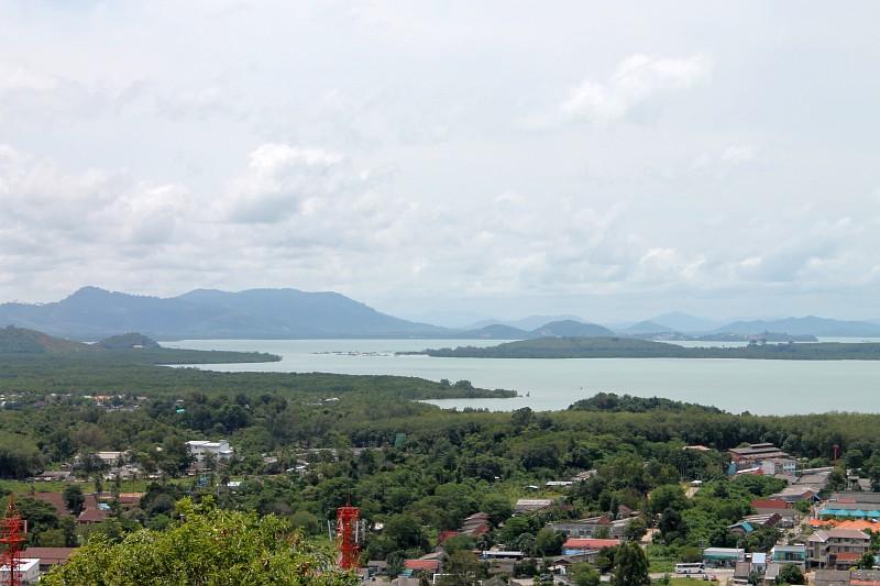 ausblick vom wat koh siray phuket
