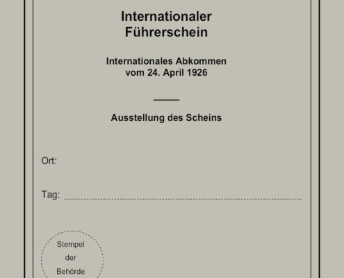 internationaler Führerschein 1926
