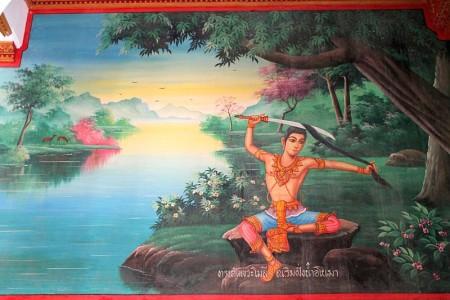 szenen aus dem leben buddhas wat chalong phuket