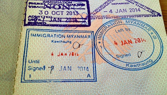 thailand visum stempel