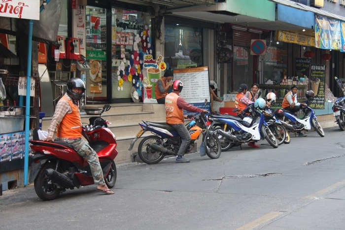 motorbike taxi bangkok fortbewegung