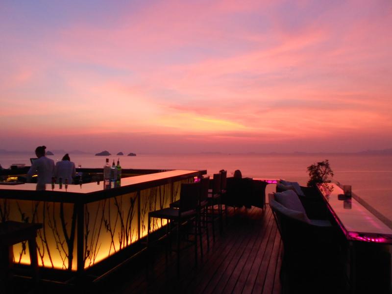 Airbar Sonnenuntergang Koh Samui