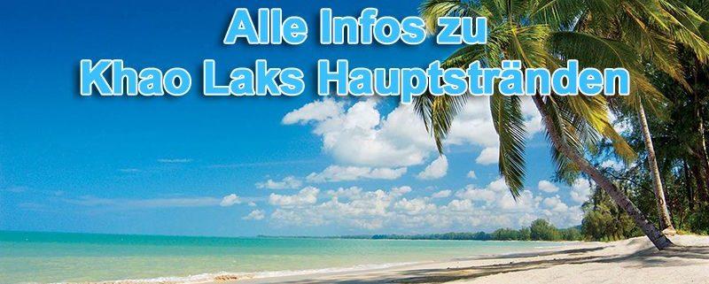 Alle Infos zu Khao Laks Hauptstränden